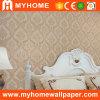 Papier de mur profondément gravé en relief de PVC de fleur de damassé (MK830106)