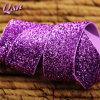 тесемка яркия блеска пурпуровой одиночной стороны 25mm Sparkly
