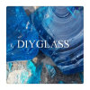 Blocco colorato blu di vetro per la decorazione del giardino