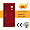 Двери MDF стекла низкой цены фабрики твердые деревянные (SC-W032)