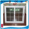 Finestra di scivolamento di alluminio di colore del Brown della finestra di ricezione di vetro di scivolamento