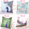 Van de Micro- van de Polyester van het Hoofdkussen van de Pauw van de manier het Decoratieve Kussen Pauw van de Vezel (fpl-26)
