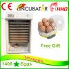 As aves domésticas automáticas aprovadas do Ce dos ovos de Hhd 1408 Egg a incubadora Ew-1408