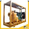 Bomba de aguas residuales centrífuga de Primining del uno mismo del motor diesel