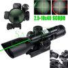 2.5-10X40 het dubbele Verlichte Zonnescherm van de Besnoeiing Riflescope met Groene Laser