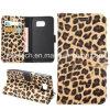 Leopardo Flip Leather Caso para Samsung Galaxy S6