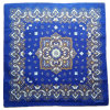 Logo personnalisé Printed Sports Cotton Blue Paisley Square Bandanna