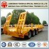 3 de Gele Semi Aanhangwagen Lowboy van Assen Fuwa met Ladder