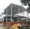 Una costruzione d'acciaio dei due piani per l'applicazione industriale