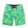 Shorts cheios da nadada de Havaí da flor da placa feita sob encomenda da cópia do Sublimation