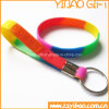Braccialetto personalizzato del silicone con l'anello chiave (YB-LY-PR-01)
