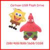 Mecanismo impulsor del flash del USB de la historieta del disco del USB de la estrella del USB Pendrive Patrick