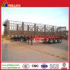 Alto forte rimorchio del camion del palo della base piana dei 3 assi