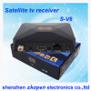 Mini receptor de TV por satélite S-V6 Skybox HD Suporte Web TV e USB WiFi