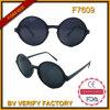 F7609 2015 Últimas forma redonda de alta calidad de las gafas de sol vintage de la moda