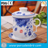 Blue e White cinesi Office Tea Cup con Ceramic Filter