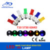 T10 5730 6SMD Lâmpada LED com lente DC 12V Canbus Pority RGB Color Auto LED Lamp