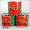 Pasta de tomate enlatada da cor vermelha 28-30% Brix volume brilhante