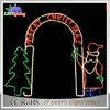Luz de porta clara do arco da corda do diodo emissor de luz da decoração ao ar livre branca morna do Natal