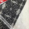Tessuto nero nobile del merletto per il vestito