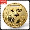 Золотая медаль металла горячего надувательства изготовленный на заказ