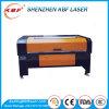 Não gravador acrílico de madeira de vidro de couro fechado metal do laser do CO2