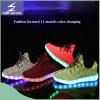Chaussures chaudes de lumière de couples d'espadrilles de la vente DEL