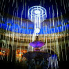 LED 80cmの屋外の祝祭の装飾のための二重側面の降雪の流星の管ライト