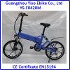 Bicicleta elétrica de dobramento com a bateria escondida