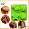 Fabrik, die quadratisches reizendes Silikon-tierische geformte Süßigkeit-Schokoladen-Form verkauft