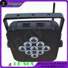 9X12W batteriebetriebenes Radioapparat LED flaches NENNWERT Licht