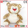 Leopardo macio bonito do animal enchido dos brinquedos para o miúdo