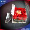 Floreros de acrílico chinos del precio bajo de la marca de fábrica con la tapa