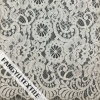 Flores redondas com tela de nylon do laço do algodão das pestanas