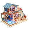 Casa de muñeca de madera de MOQ del juguete inferior de los niños DIY