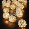 La cadena de la bola de la rota enciende fuentes del partido de la decoración de la boda de la Navidad de la luz de hadas de la lámpara de la luz de la bola de Sepak Takraw