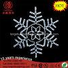 LEDのハングの雪片の暖かい白Xmasはモチーフの軽いクリスマスの装飾をつける