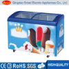 滑らせるIce Cream Display (SC/SD328Y)のためのGlass Door Chest Freezerを