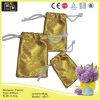 Роскошный золотистый мешок ювелирных изделий ткани способа (4613)