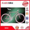 26 '' vélos fixes de vitesse de vitesse simple, bicyclette fixe faite sur commande de vitesse du poids léger 700c, vélo complet de vitesse fixe blanche du bleu 700c