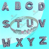 Alliage 8mm Crystal Slide Letters Alphabet Charms pour Strap (ASL51031)