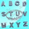 Strap (ASL51031)를 위한 합금 8mm Crystal Slide Letters Alphabet Charms