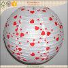 Colgante alrededor de la decoración de la tarjeta del día de San Valentín de la linterna del papel de imprenta