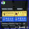Double plafond du côté LED accrochant le signe directionnel