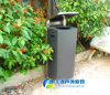 2015년 Cover를 가진 상단 Sell Decorative Recycled Steel Litter Bin 또는 Trash Can
