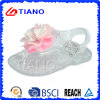 Sandalo della nuova di disegno ragazza della gelatina con il fiore (TNK50025-1)