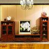 Armário moderno da tevê do armazenamento da madeira contínua da sala de visitas para a casa de campo (XS9-054)