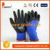 Голубое Nylon с Black Nitrile Glove-Dnn913