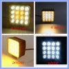 48W bernsteinfarbiges oder Modifikation-Arbeits-Licht des Weiß-16 LED