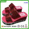 Ботинки высокой пятки повелительниц способа красные блестящие (RW28815B)
